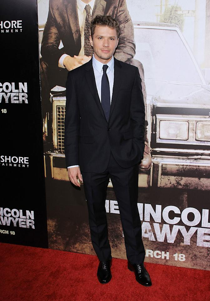 """<a href=""""http://movies.yahoo.com/movie/contributor/1800018813"""">Ryan Phillippe</a> at the Los Angeles premiere of <a href=""""http://movies.yahoo.com/movie/1810088161/info"""">The Lincoln Lawyer</a> on March 10, 2011."""