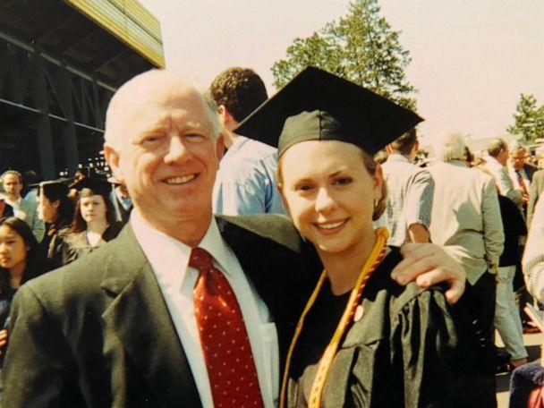 PHOTO: Abby Reinhard poses with her father Donald Adair on her graduation day. (Abby Reinhard)