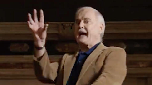 Tonight's #TNF tease is Something Completely Different: @JohnCleese explaining how football works (or trying to, at least).