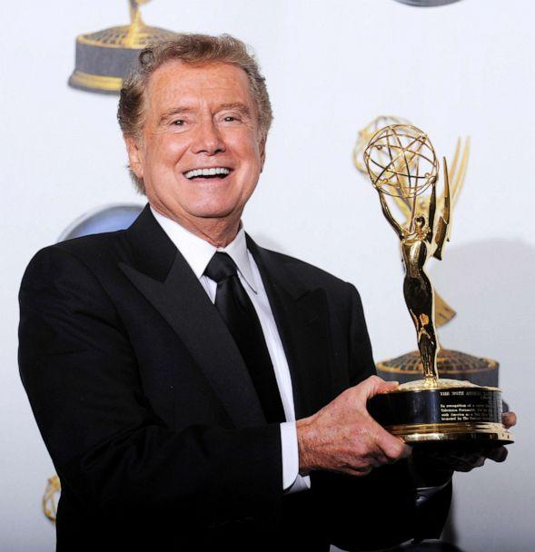 PHOTO: Regis Philbin poses with his lifetime achievement award backstage at the 35th Annual Daytime Emmy Awards at the Kodak theatre in Hollywood, Calif., June 20, 2008. (Phil Mccarten/Reuters)