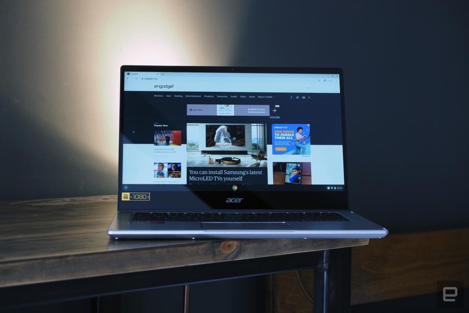 Hands-on images of Acer's Chromebook Spin 514