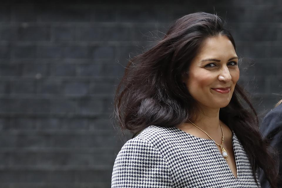 Britain's Home Secretary Priti Patel arrives at number 10 Downing Street in central London on August 2, 2019. (Photo by Tolga AKMEN / AFP) (Photo credit should read TOLGA AKMEN/AFP via Getty Images)