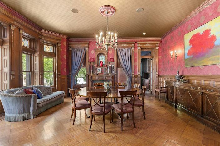 <p>Hardwood parquet flooring is just one historic feature of the mansion.</p>