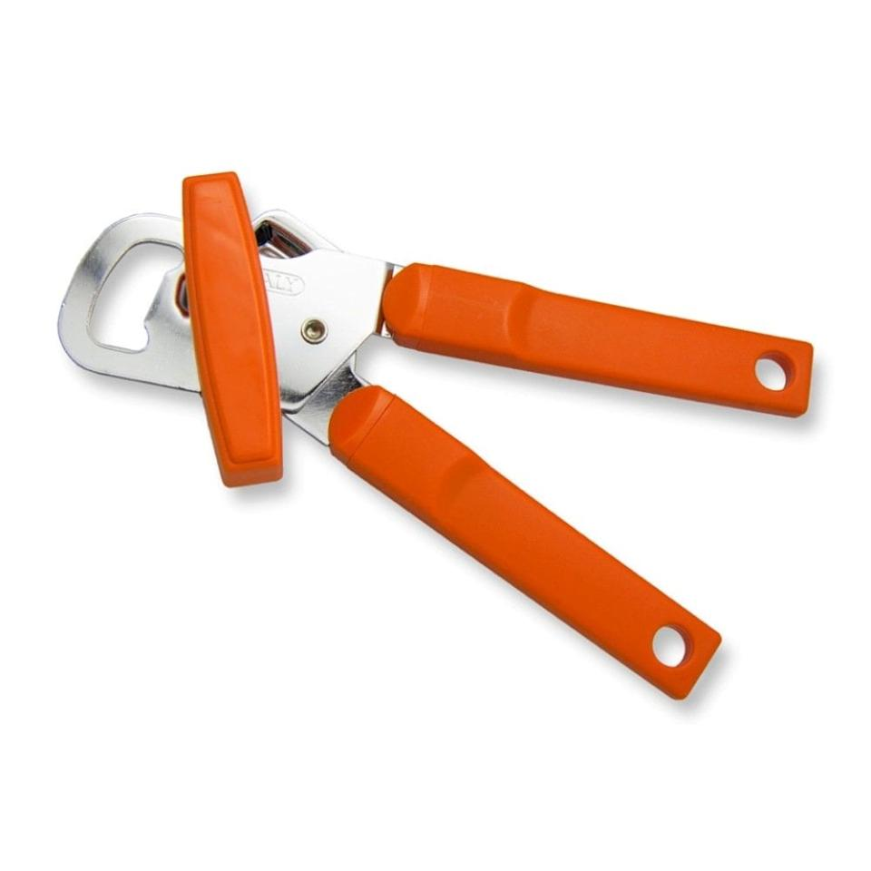 """<p>This <product href=""""https://www.amazon.com/Left-Handed-Manual-Opener-Orange/dp/B00RDPZFIM/ref=sr_1_fkmrnull_3?keywords=Left+Handed+Manual+Can+Opener%2C+Orange+Handle&amp;qid=1553106470&amp;s=home-garden&amp;sr=1-3-fkmrnull"""" target=""""_blank"""" class=""""ga-track"""" data-ga-category=""""Related"""" data-ga-label=""""https://www.amazon.com/Left-Handed-Manual-Opener-Orange/dp/B00RDPZFIM/ref=sr_1_fkmrnull_3?keywords=Left+Handed+Manual+Can+Opener%2C+Orange+Handle&amp;qid=1553106470&amp;s=home-garden&amp;sr=1-3-fkmrnull"""" data-ga-action=""""In-Line Links"""">Left Handed Manual Can Opener</product> ($22) from Lefty's The Left Hand Store is made to fit on the left side of the can, allowing you to grab the can with your right hand and turn with your stronger hand. Better yet, the opener rotates counter-clockwise, making it way easier for left-handers to operate.</p>"""