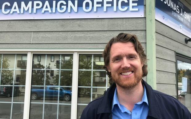Jonas Smith when he ran for the Conservative Party of Canada in 2019. Smith is now running as an independent after the federal Conservatives dropped him as a candidate last week. (Kaila Jefferd-Moore - image credit)