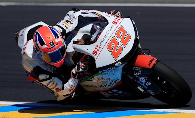 Motorcycling - Moto2 - French Grand Prix - Bugatti Circuit, Le Mans, France - May 19, 2018 Swiss Innovative Investors' Sam Lowes during qualifying REUTERS/Gonzalo Fuentes
