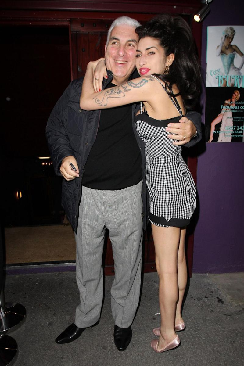 Amy Winehouse and her father Mitch in London where he was playing a gig in 2010. Source: Getty
