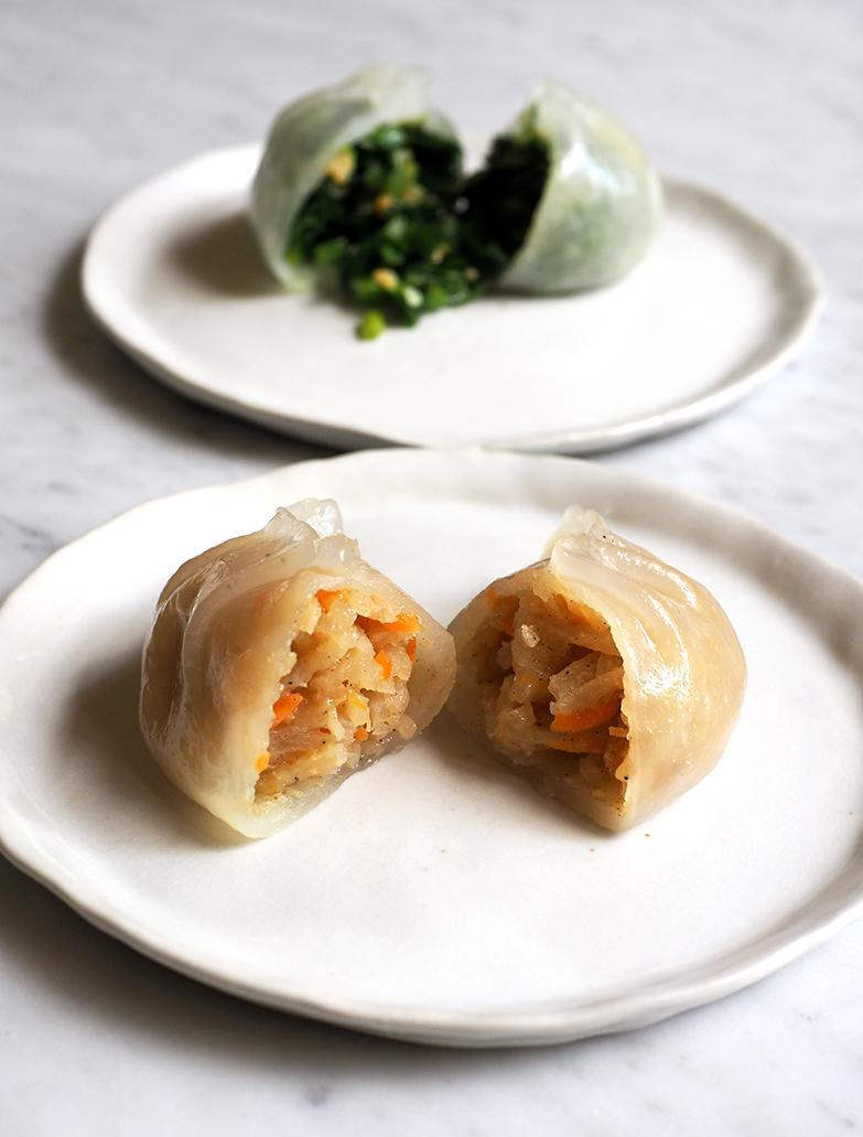 Their yam bean and carrot filling is just cooked to have a nice crunch.