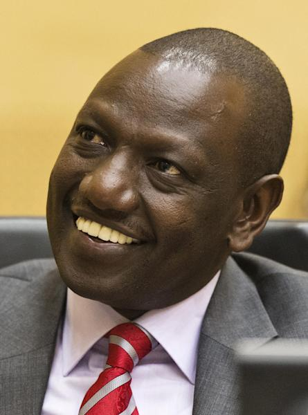 Kenya's Deputy President William Ruto awaits the start of his trial in the courtroom of the International Criminal Court (ICC) in The Hague, Netherlands, Tuesday, Sept. 10, 2013. The trial of Kenya's deputy president has opened at the ICC on charges of orchestrating deadly violence in the aftermath of his country's disputed 2007 election. Ruto and broadcaster Joshua Sang are both accused of murder, deportation and persecution. They insist they are innocent. (AP Photo//Michael Kooren, Pool)