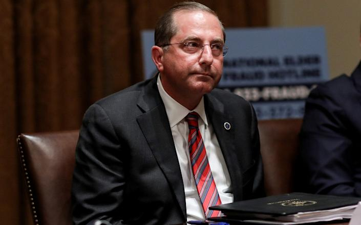 US Secretary of Health and Human Services Alex Azar