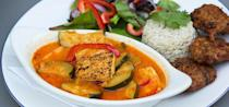 """<p>Heralded as one of the city's finest vegetarian cafés for over 20 years, its owners have recently made the restaurant predominantly plant-based, using freshly and locally-sourced ingredients.</p><p>When visiting, try 'The Whole Bowl' - chipotle black beans, brown rice, mango salsa, guacamole and vegan 'cheesey' sauce – and Jerk Jackfruit- Caribbean sweet and spicy jerked jackfruit served with hard food, wraps and coconut sour cream.</p><p>For more info, <a href=""""http://www.rootsandfruits.net/"""" rel=""""nofollow noopener"""" target=""""_blank"""" data-ylk=""""slk:click here"""" class=""""link rapid-noclick-resp"""">click here</a>.</p>"""
