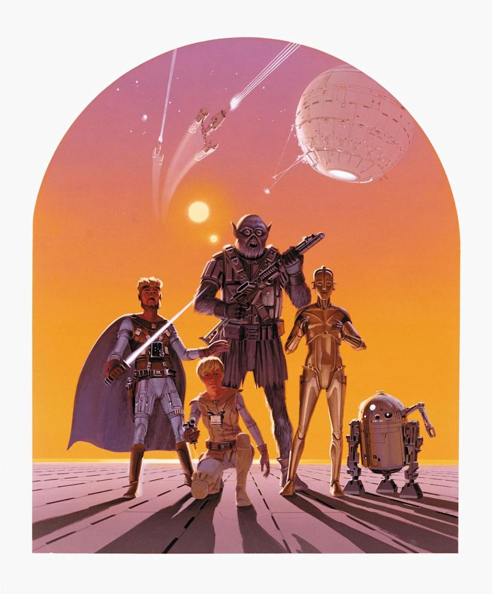 <p>Dave Filoni, executive producer of 'Star Wars Rebels,' took this early Chewbacca (center) concept as inspiration for the character Zeb on the hit Disney Channel show. </p>