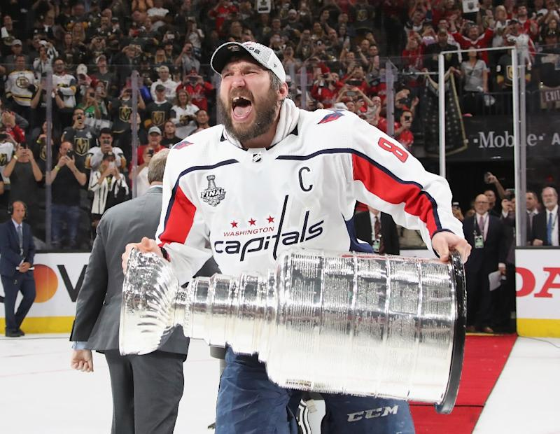 Capitals Captain Ovechkin Shaves Off Beer Soaked Playoff Beard