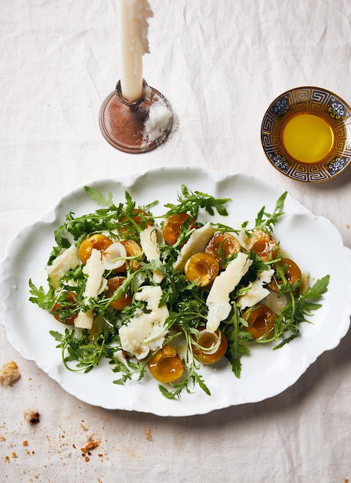 """<a href=""""https://www.bonappetit.com/recipe/arugula-with-italian-plums-and-parmesan?mbid=synd_yahoo_rss"""" rel=""""nofollow noopener"""" target=""""_blank"""" data-ylk=""""slk:See recipe."""" class=""""link rapid-noclick-resp"""">See recipe.</a>"""