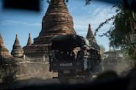 A squad of gun-toting police patrol Myanmar's sacred site of Bagan under the cover of night, taking on plunderers snatching relics from temples forsaken by tourists due to coronavirus restrictions