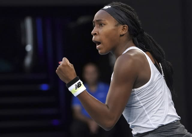 Coco Gauff eased into the fourth round (AP Photo/Lee Jin-man)