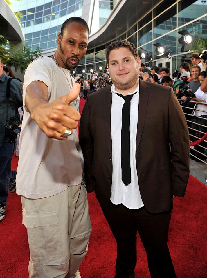 """<a href=""""http://movies.yahoo.com/movie/contributor/1810042076"""">RZA</a> and <a href=""""http://movies.yahoo.com/movie/contributor/1808716500"""">Jonah Hill</a> at the Los Angeles premiere of <a href=""""http://movies.yahoo.com/movie/1810041785/info"""">Funny People</a> - 07/20/2009"""