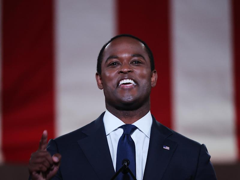 Kentucky attorney general Daniel Cameron speaks at the RNC. Many feel the diverse lineup of speakers at the virtual convention does not represent the America that Trump pushes for on a daily basis: Getty