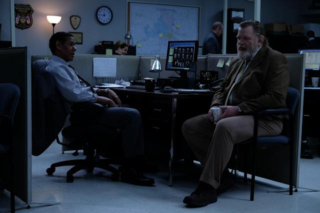 "Scott Lawrence and Brendan Gleeson in ""Mr. Mercedes."" (Photo: Audience)"