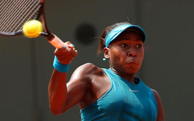Gauff is the youngest player to qualify for Wimbledon in the Open era - AP