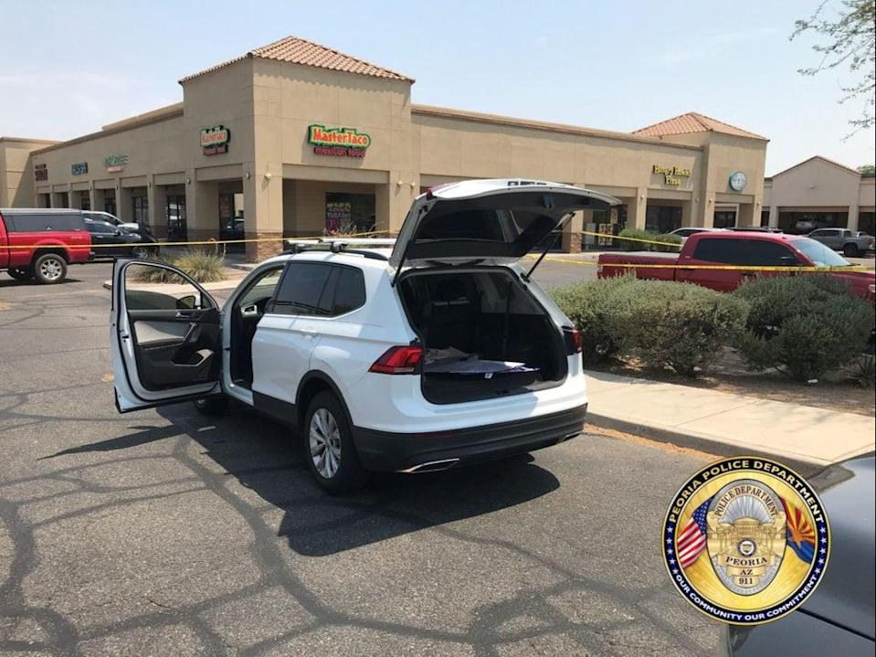 A Volkswagen Tiguan driven by a shooter in Phoenix on Thursday (Peoria Police Department )