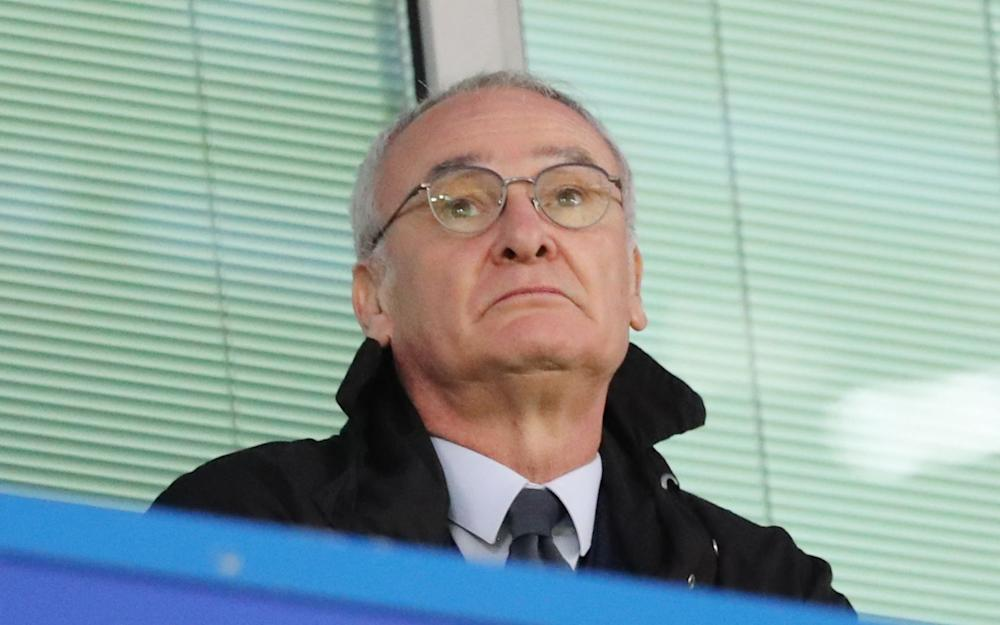 Former Leicester City and Chelseamanager Claudio Ranieri watches during the Premier League match - Credit: Rex