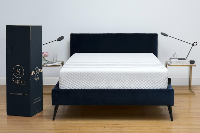 Leesa's Sapira mattress has springs but still comes in a box
