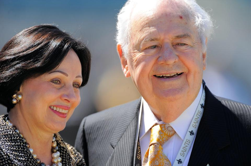 New Orleans Saints owner Tom Benson and his wife, Gayle