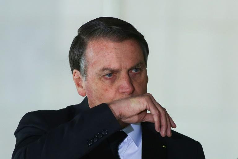 Brazilian President Jair Bolsonaro, pictured in November 2019, has urged people to take to the streets in his support on March 15