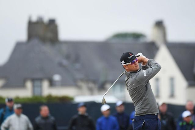 Zach Johnson co-leads the British Open after Day 2. (Getty)