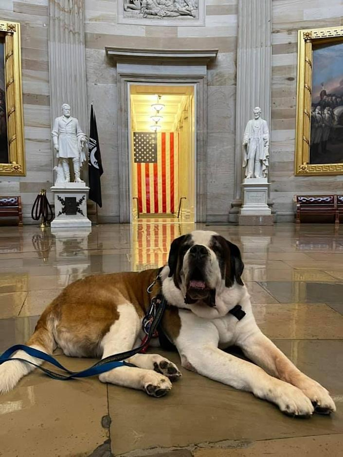 Officer Clarence inside the U.S. Capitol (Courtesy of Deputy Chief William Gordon)