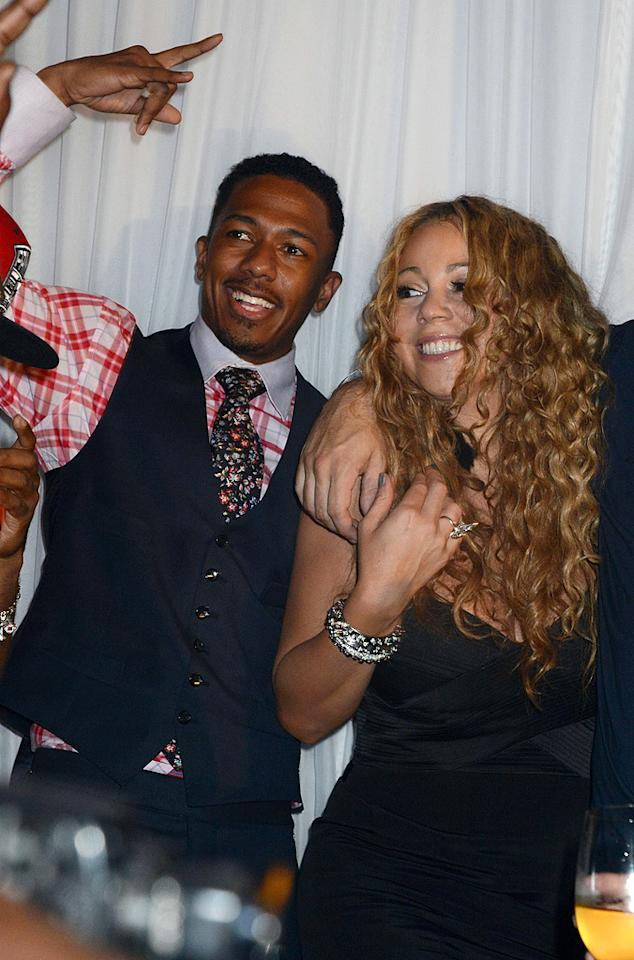"<p class=""MsoNormal"">Before anyone could even confirm Mariah Carey and Nick Cannon were engaged (she was spotted wearing a giant engagement ring in late April 2008), the two announced they had gotten hitched in a secret ceremony at Carey's Bahamas estate on April 30, 2008. Though they had met back in 2005, the couple only began dating the month before and hadn't yet revealed the nature of their relationship prior to marrying. ""I don't think anyone realized what we already knew – that we were going to get married,"" Carey told <em>People</em> magazine in May 2008. Carey and Cannon are now parents to 16-month-old twins, Moroccan and Monroe.</p>"