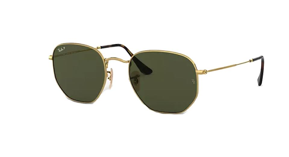 Ray-Ban RB3548N Unisex Polarised Hexagonal Sunglasses
