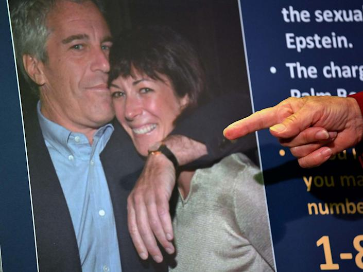 Ghislaine Maxwell with Jeffrey Epstein, who she was alleged to have aided in sexual abuse against underage girls: AFP via Getty Images