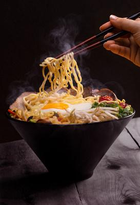 Ramen lovers will rejoice with P.F. Chang's two new bowls: Spicy Miso Ramen and Tonkotsu Ramen. Tonkotsu Ramen, pictured here, is made with a creamy tonkotsu pork broth, shiitakes, edamame, carrots, bean sprouts, tomatoes and green onion.