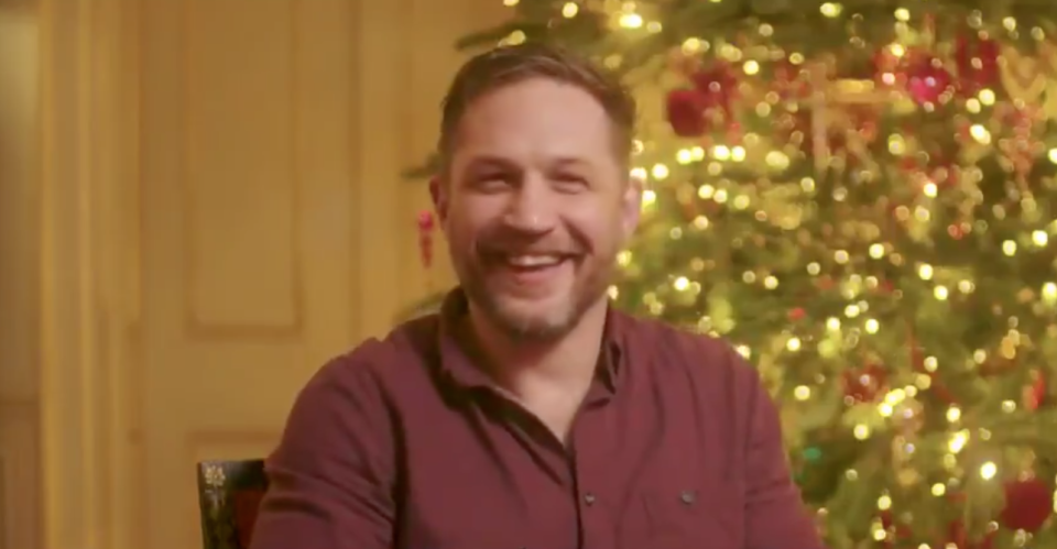 Tom Hardy took part in the charity video for The Actor's Benevolent Fund. (Twitter)