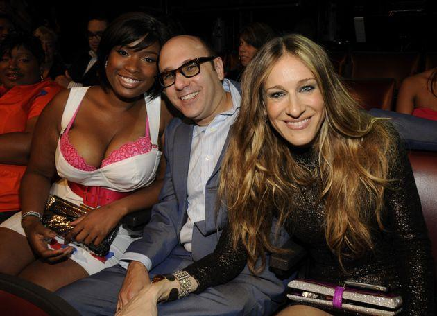 Willie Garson (center) and Sarah Jessica Parker (right) in 2008 with Jennifer Hudson (left), who appeared alongside the pair in the
