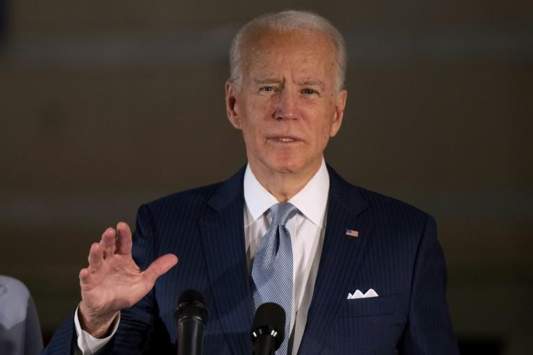 Democratic presidential candidate Joe Biden is the clear frontrunner after his latest string of primary victories
