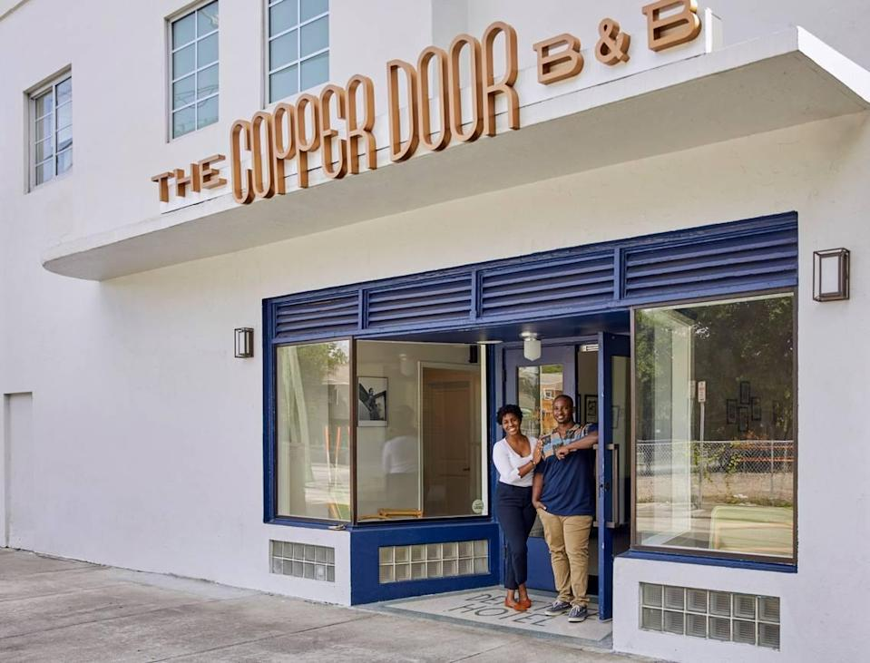Jamila Ross and Akino West are co-owners of The Copper Door B & B in Overtown.