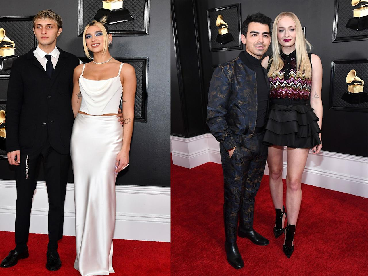 "<p>Sunday night's <a href=""https://www.cosmopolitan.com/uk/grammys/"" target=""_blank"">Grammys</a> featured the typical awards ceremony mix of <a href=""https://www.cosmopolitan.com/uk/entertainment/a30671364/most-awkward-grammys-moments-2020/"" target=""_blank"">painfully awkward moments</a>, <a href=""https://www.cosmopolitan.com/uk/fashion/celebrity/a30668166/ariana-grande-grammys-twitter/"" target=""_blank"">powerful fashion statements</a> and a, uh, <a href=""https://www.cosmopolitan.com/uk/entertainment/a30672046/the-grammys-man-skeleton-makeup/"" target=""_blank"">random man in the audience wearing skeleton makeup</a> (there's always one). Of course, the red carpet was also awash with some of our favourite celebrity couples. From Joe Jonas and Sophie Turner to Chrissy Teigen and John Legend, check out the stars who were looking all pretty and in love on the red carpet in LA last night. </p>"