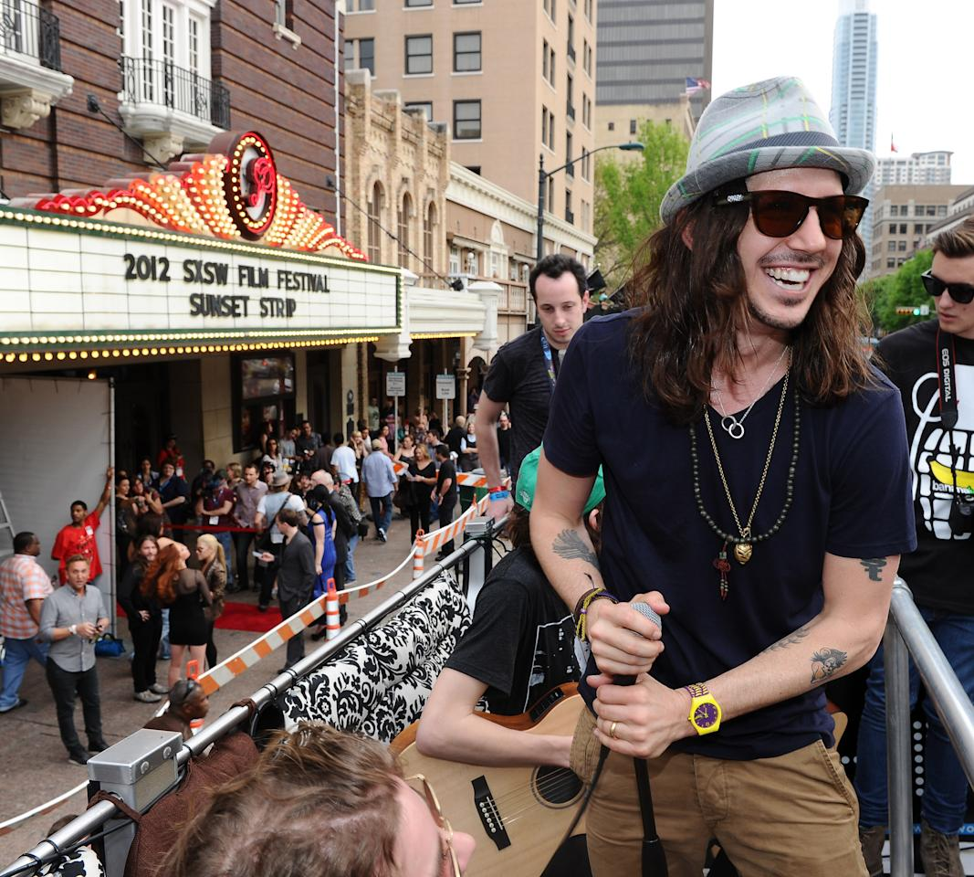 "AUSTIN, TX - MARCH 16:  Musician Cisco Adler arrives to the world premiere of ""Sunset Strip"" on the Canwenetwork.com Bus during the 2012 SXSW Music, FIlm + Interactive Festival at Paramount Theatre on March 16, 2012 in Austin, Texas.  (Photo by Michael Buckner/Getty Images for SXSW)"