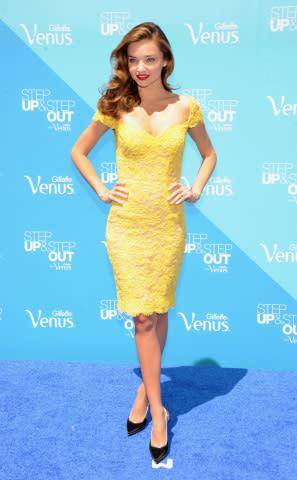 Miranda Kerr takes the first steps for the Gillette Venus Step Up & Step Out event in NYC (Photo: Bu ...