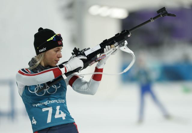 Norway's Tiril Eckhoff is a world-class athlete and elite shooter. (Reuters)