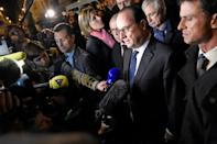 Former French president Francois Hollande is to testify at the trial (AFP/Miguel MEDINA)