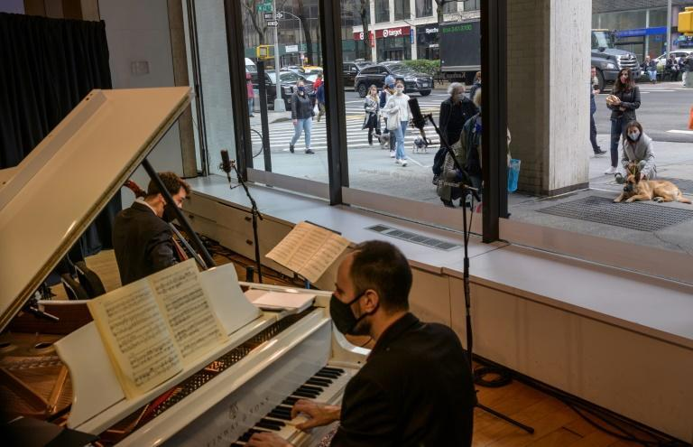 Musicians across the genres are performing pop-up concerts on Manhattan's Upper West Side for lucky passersby