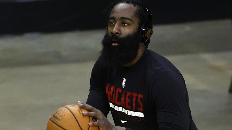 The NBA has yet to reveal how long James Harden will be held out of games after breaching the league's coronavirus protocols. (Photo by Carmen Mandato/Getty Images)