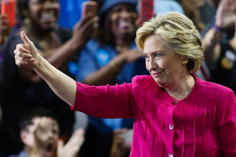 Hillary Clinton followed her historic acceptance as the first woman presidential nominee for a major party with a rally in Philadelphia before a tour of Pennsylvania and Ohio (AFP Photo/Eduardo Munoz Alvarez)