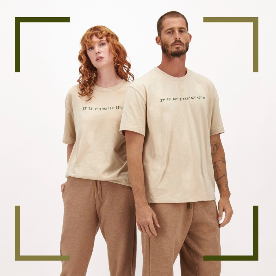 man and a woman wearing bonds genderless clothing