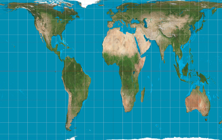 The Gall-Peters Projection is being used in Boston schools (Picture: Wikimedia)