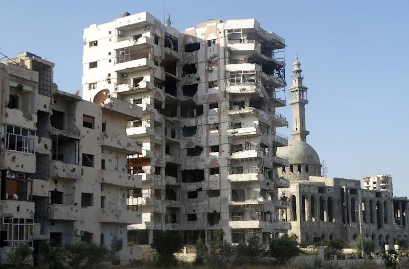 Rebel-held Al-Waer is a besieged town in Syria's Homs governorate